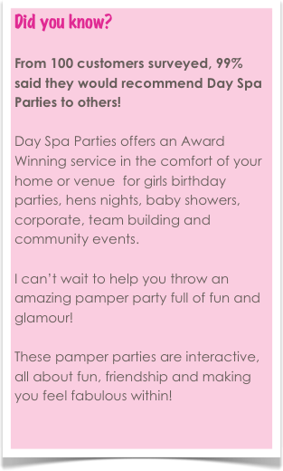 NEW! Day Spa Parties Blog!